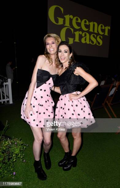 Dawn Luebbe and Jocelyn DeBoer attend LA Special Screening Of IFC Midnight's GREENER GRASS at The Montalban Theater on October 14 2019 in Los Angeles...