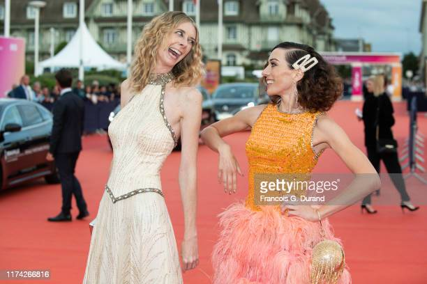 Dawn Luebbe and Jocelyn DeBoer attend the A Hidden Life Premiere during the 45th Deauville American Film Festival on September 12 2019 in Deauville...