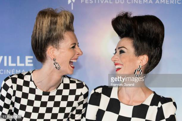 Dawn Luebbe and Jocelyn DeBoer attend the Call Jocelyn Deboer Dawn Luebbe photocall during the 45th Deauville American Film Festival on September 13...