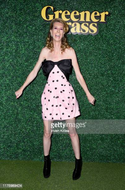 Dawn Luebbe attends LA Special Screening Of IFC Midnight's GREENER GRASS at The Montalban Theater on October 14 2019 in Los Angeles California