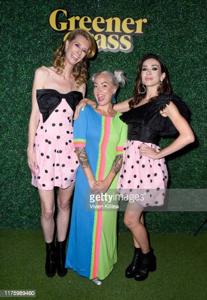 Dawn Luebbe Leigh Poindexter and Jocelyn DeBoer attend LA Special Screening Of IFC Midnight's GREENER GRASS at The Montalban Theater on October 14...