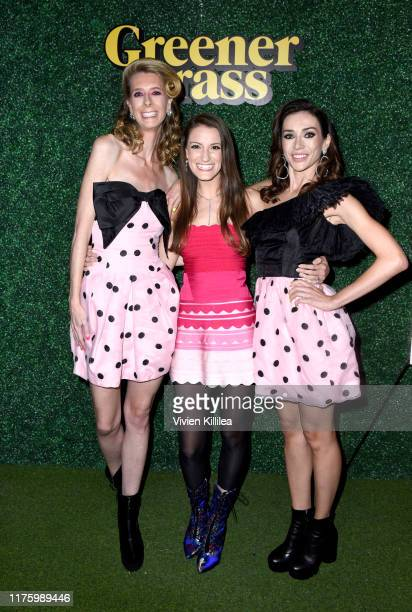 Dawn Luebbe Natalie Metzger and Jocelyn DeBoer attend LA Special Screening Of IFC Midnight's GREENER GRASS at The Montalban Theater on October 14...