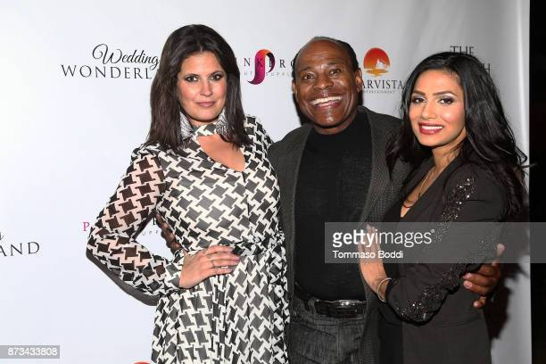 Dawn McCoy Lamont Roberts and Nosheen Phoenix attend the Premiere Of MarVista Entertainment's 'Wedding Wonderland' on November 12 2017 in Los Angeles...