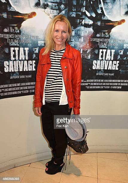 Dawn McDaniel attends 'L'Etat Sauvage' Paris Premiere at Cinema Arlequin on April 23 2014 in Paris France