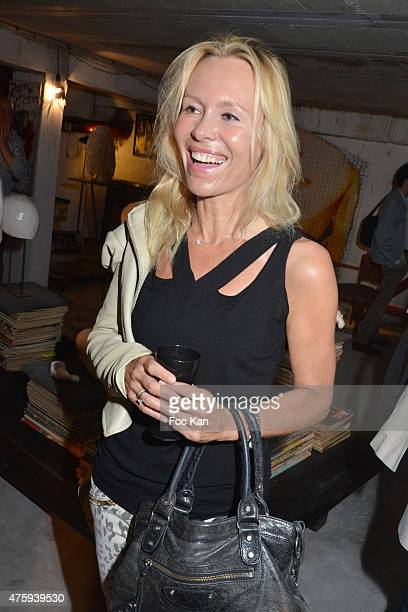 Dawn McDaniel attends the 'Opening 4' Exhibition Hosted by Sandra Cheres at 20 Rue Pierre Levee on June 4 2015 in Paris France