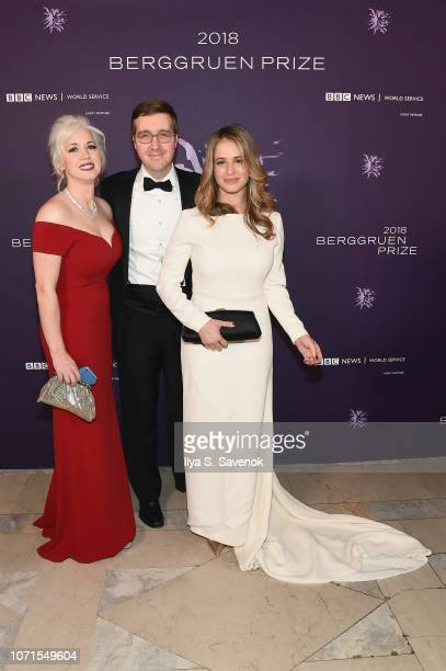 Dawn Nakagawa Howard Warren Buffett and Lili Buffett attend the Third Annual Berggruen Prize Gala at the New York Public Library on December 10 2018...