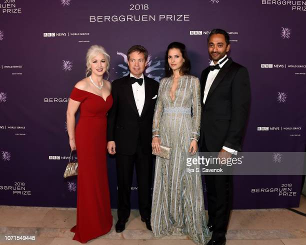 Dawn Nakagawa Nicolas Berggruen Nathalie Dompe and Chamath Palihapitiya attend the Third Annual Berggruen Prize Gala at the New York Public Library...