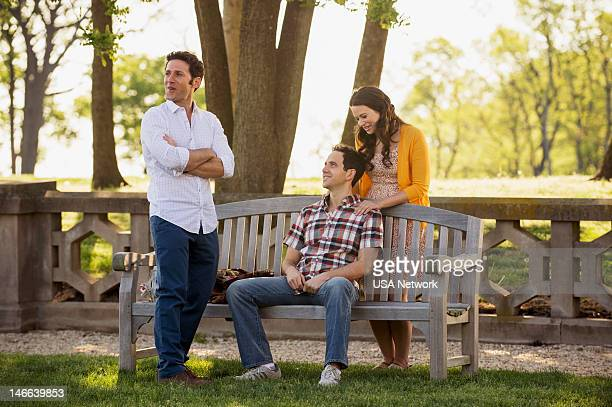PAINS Dawn of the Med Episode 4 Pictured Mark Feuerstein as Dr Hank Lawson Santino Fontana as Jason Katie Lowes as Carrie