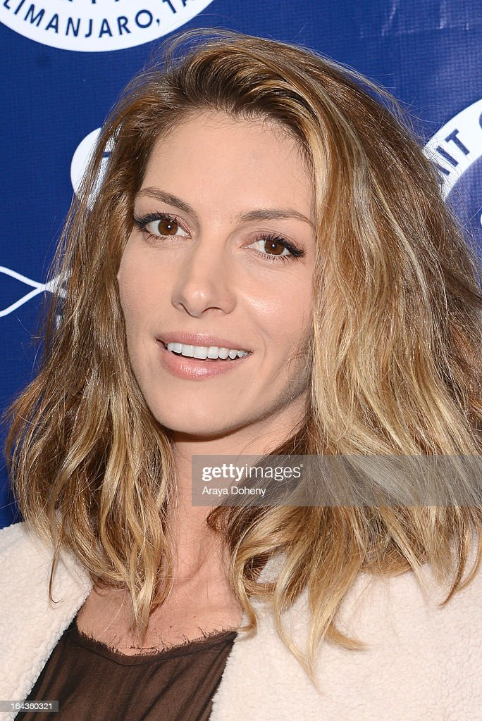 Dawn Olivieri arrives at the Summit On The Summit Photo Exhibition Celebrating World Water Day at Siren Studios on March 22, 2013 in Hollywood, California.