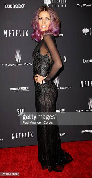 Dawn Olivieri arrives at the Weinstein Company Golden Globes AfterParty