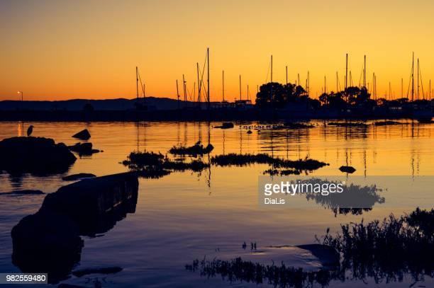 Dawn on the harbor