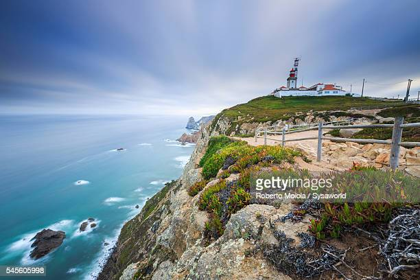 Dawn on the lighthouse Cabo da Roca Portugal