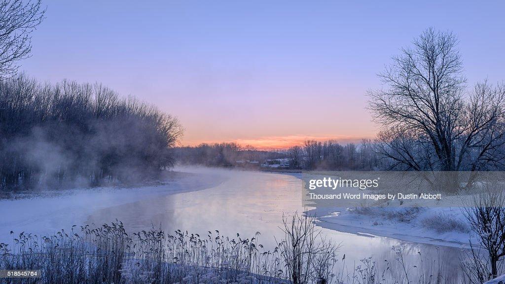Dawn on the Muskrat : Stock Photo