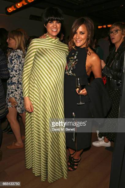 Dawn O'Porter and Caroline Flack attend the launch of new book The Cows by Dawn O'Porter at the Marylebone Hotel on April 6 2017 in London England