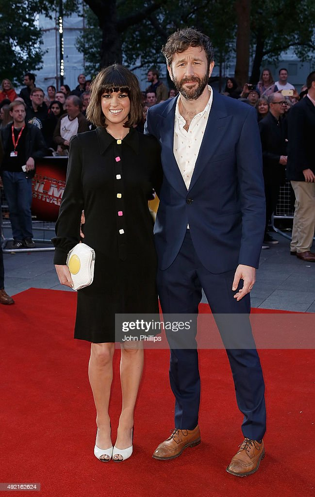 Dawn O'Porter and Chris O'Dowd attend the 'The Program' screening, during the BFI London Film Festival, at Vue Leicester Square on October 10, 2015 in London, England.