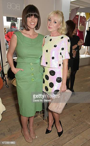 Dawn O'Porter and Helen George attend the BOB by Dawn O'Porter popup boutique launch party in Covent Garden on May 6 2015 in London England