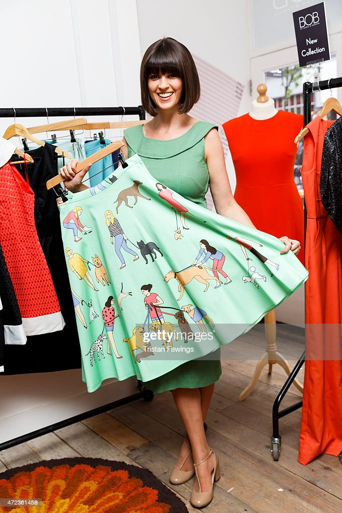Dawn O'Porter attends the launch her BOB pop up boutique at Seven Dials, with Caorunn Gin and anCnoc vinatage Whisky, Vidal Sassoon and Smashbox on May 6, 2015 in London, England.