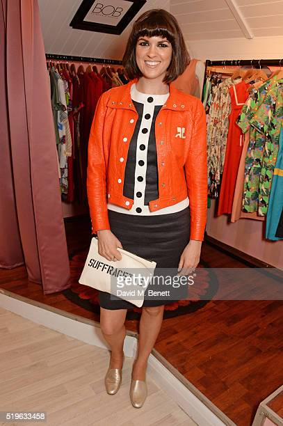 Dawn O'Porter attends the launch of 'Good Ship Benefit' a beauty and entertainment destination opening on the River Thames and run by Benefit...