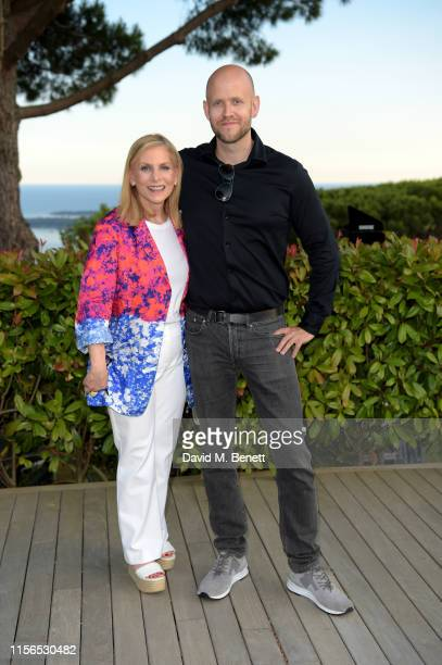 Dawn Ostroff and Daniel Ek attend an intimate evening of music and culture hosted by Spotify and Hulu during Cannes Lions 2019 at Villa Mirazuron...