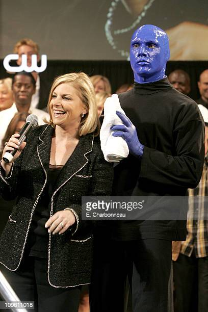 Dawn Ostroff CW President of Entertainment and the Blue Man Group