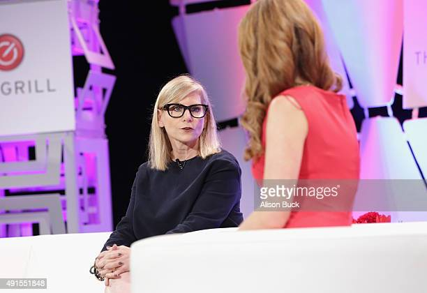 Dawn Ostroff President of Conde Nast Entertainment and CNBC reporter Julia Boorstin speak onstage during TheWrap's 6th Annual TheGrill at Montage...