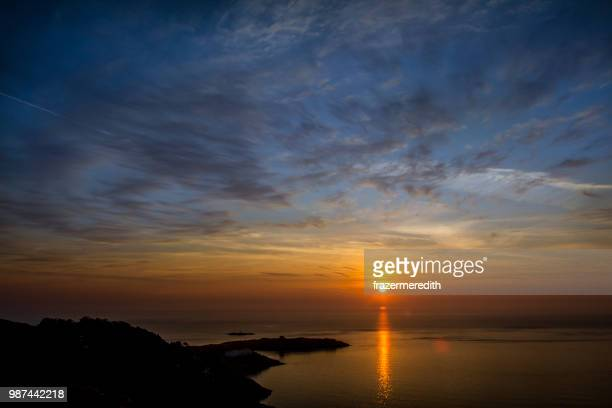 dawn over dalkey island - dalkey stock pictures, royalty-free photos & images