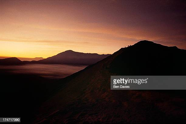Dawn over Mount Bromo, the spectacular volcanic peak that is situated high up in the Tengger mountains, an hour's drive from Probolinggo. Although...