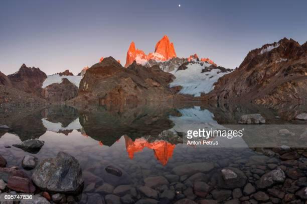 Dawn over the Lago De Los Tres. Fitz Roy, Patagonia, Argentina