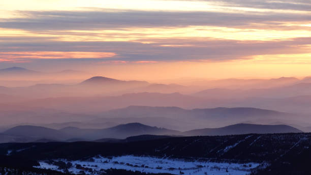 Dawn over the mountains