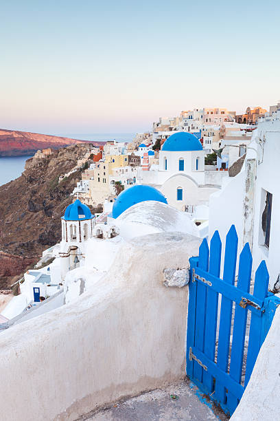 Dawn over the village of Oia