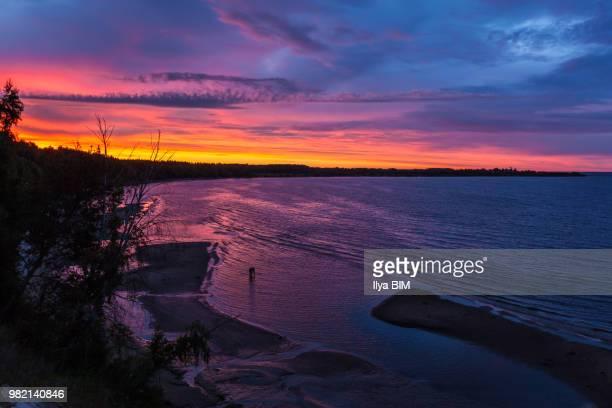 Dawn over the Volga River