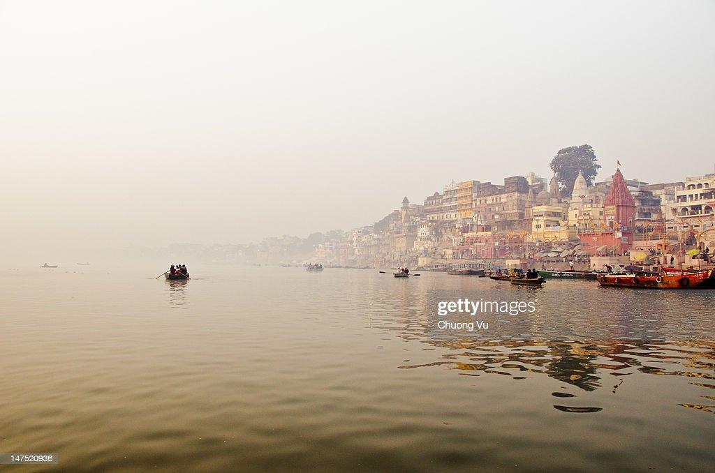 Dawn over Varanasi : Stock Photo
