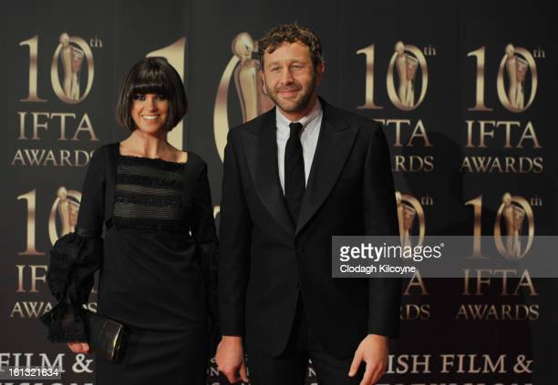 Dawn Porter and Chris O'Dowd attends the Irish Film and Television Awards at Convention Centre Dublin on February 9 2013 in Dublin Ireland