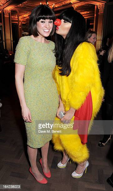 Dawn Porter and Jameela Jamil attend the launch of Baileys new sleek bottle design at the Cafe Royal hotel on March 21 2013 in London England