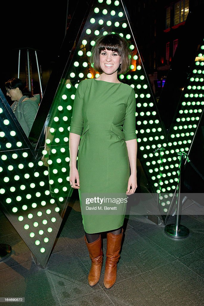 Dawn Porter ats W London - Leicester Square for the launch of Gizzi Erskine's remix of the W Rock Tea and her book 'Skinny Weeks and Weekend Feasts' on March 26, 2013 in London, England.