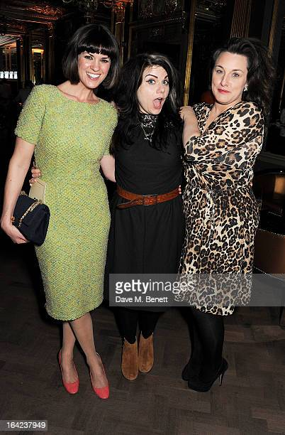 Dawn Porter Caitlin Moran and Grace Dent attend the launch of Baileys new sleek bottle design at the Cafe Royal hotel on March 21 2013 in London...