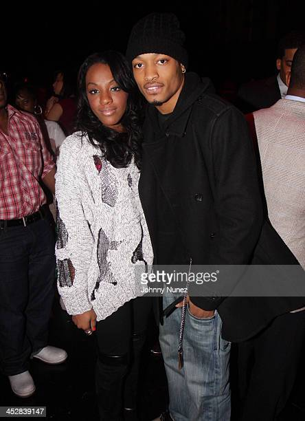 Dawn Richard and Q of Day26 attends the premiere of BET's Harlem Heights on March 2 2009 in New York City