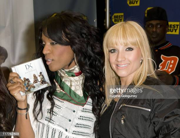 Dawn Richard and Shannon Bex of Danity Kane Sign Copies of Their New CD Welcome To The Dollhouse at Best Buy in New York City on March 18 2008