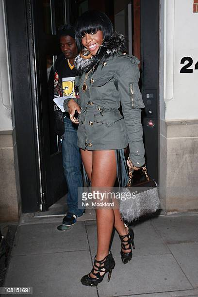 Dawn Richard from 'Diddy Dirty Money' sighted leaving The Hospital Club on Endell street on January 19 2011 in London England