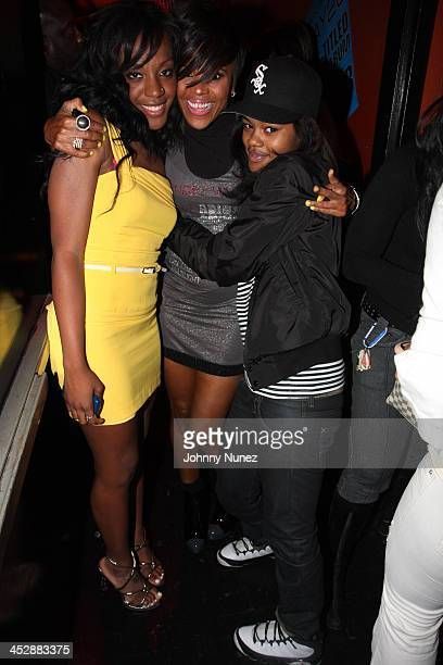Dawn Richard Laurie Ann Gibson and Teyana Taylor attend the Making the Band 4 premiere party at Guest House on August 19 2008 in New York City