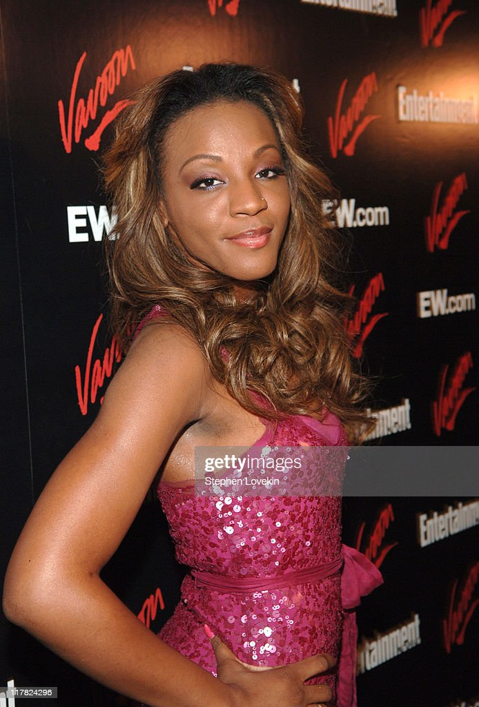 Dawn Richard of Danity Kane during Entertainment Weekly/Vavoom 2007 Upfront Party - Red Carpet at The Box in New York City, New York, United States.