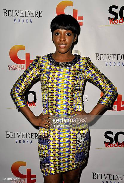 Dawn Richard of Dirty Money attends the 5th anniversary and relaunch of Concreteloopcom at Hiro Ballroom at The Maritime Hotel on November 11 2010 in...