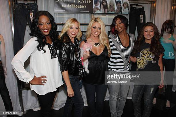 Dawn Richard Shannon Bex Aubrey O'Day Wanita D Woods Woodgette and Aundrea Fimbres of the group Danity Kane attend an intimate preview of Danity Kane...