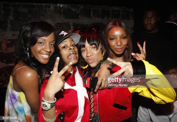 Dawn Richard Teyana Taylor Lil Mama and Winter Gordon attends Chris Brown's 19th Birthday Party May 13 2008 at Rebel NYC in New York