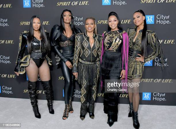 Dawn Robinson Rhona Bennett Maxine Jones Terry Ellis and Cindy Herron of En Vogue attend City Of Hope Spirit Of Life Gala 2019 on October 10 2019 in...