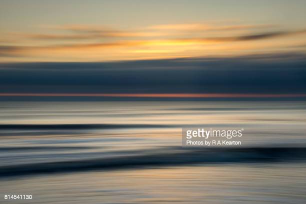Dawn seascape abstract