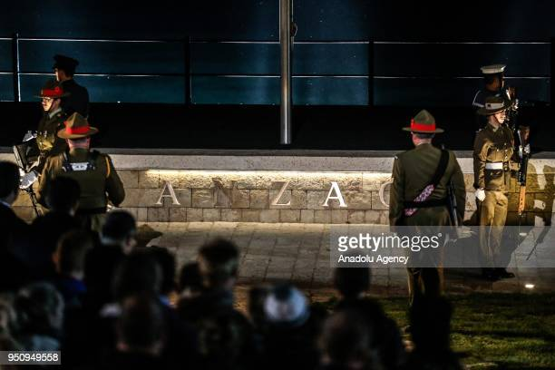 Dawn service is held at Anzac Cove in commemoration of the 103rd anniversary of Canakkale Land Battles on Gallipoli Peninsula on April 25 2018 in...