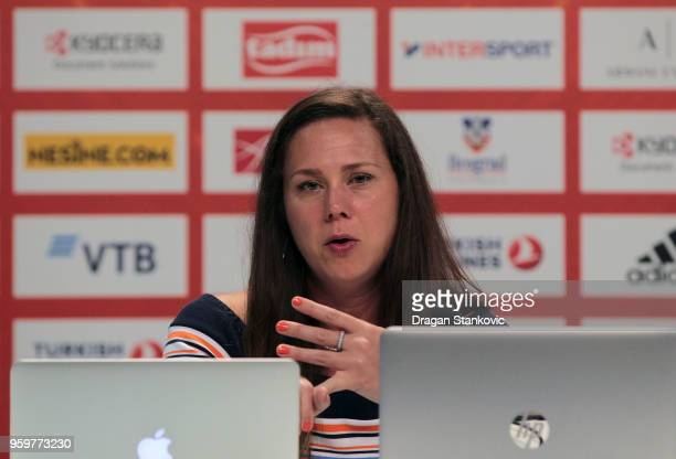 Dawn Smyth Canada Basketball Director during the 2018 Turkish Airlines EuroLeague F4 Sports Business MBA at Stark Arens on May 18 2018 in Belgrade...