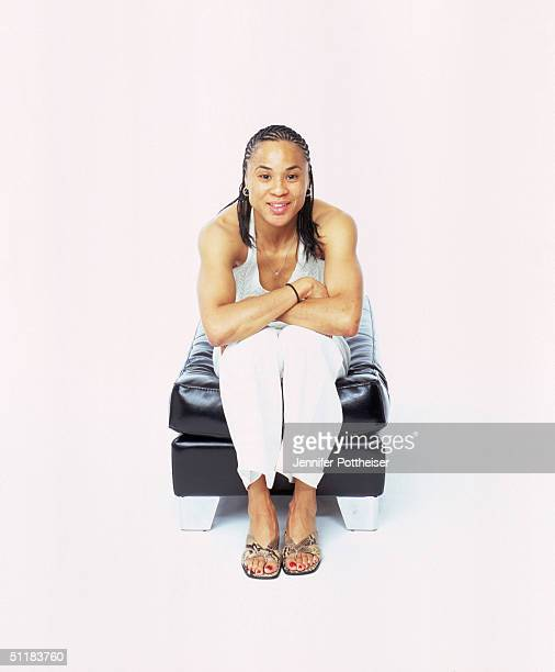 Dawn Staley of the Charlotte Sting poses for a WNBA Portrait at Westin Hotel on August 4 2004 in New York New York NOTE TO USER User expressly...
