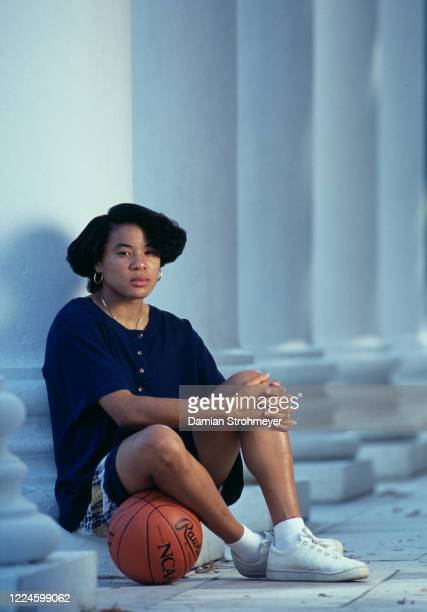 Dawn Staley,Guard for the University of Virginia Cavaliers women's basketball team poses for a portrait during the NCAA Atlantic Coast Conference...